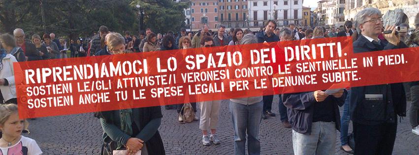 Sostieni le/gli attiviste/i veronesi contro le Sentinelle in Piedi.